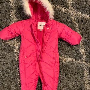3-6 Month Pink DKNY snowsuit